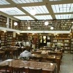 Inside the municipal library in Patra.