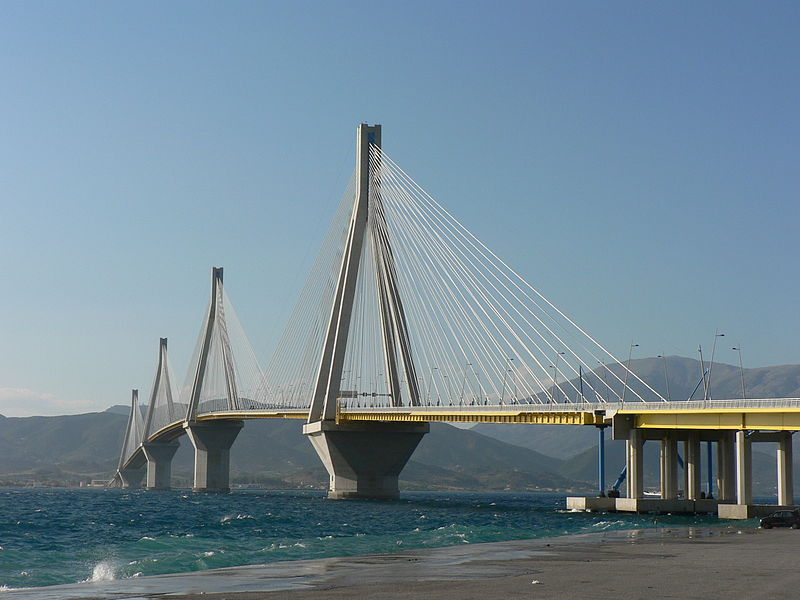 Patras bridge, Rion-Antirion across the Corinthian Gulf