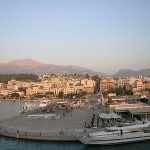 View of Patras port, Greece