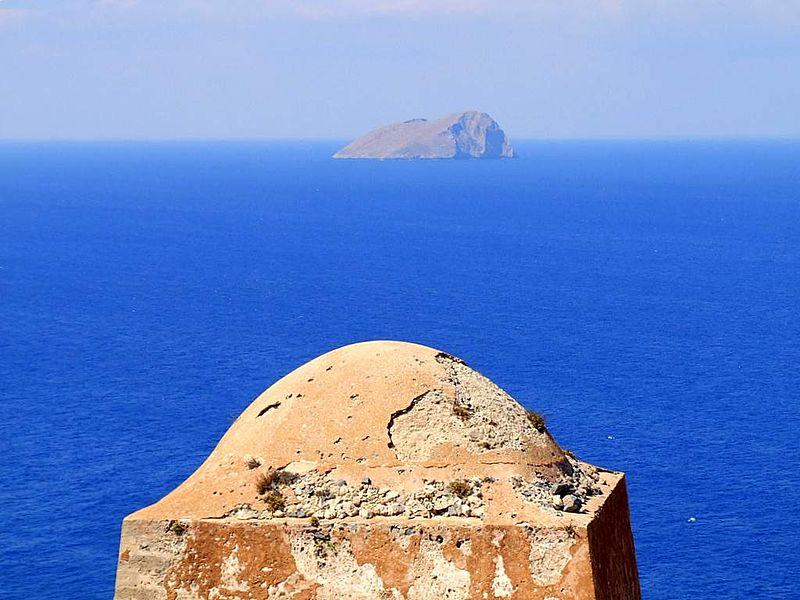Pondikonisi island in Chanion prefecture, Crete, Greece