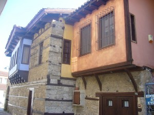 A traditional street in Edessa, Pella, Greece