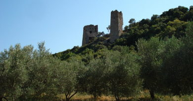Ruins of Avandas castle outside the city of Alexandroupoli, Greece