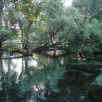 The springs of Agia Varvara in Drama, Greece