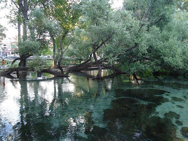 The springs of Agia Varvara in Drama, Greece
