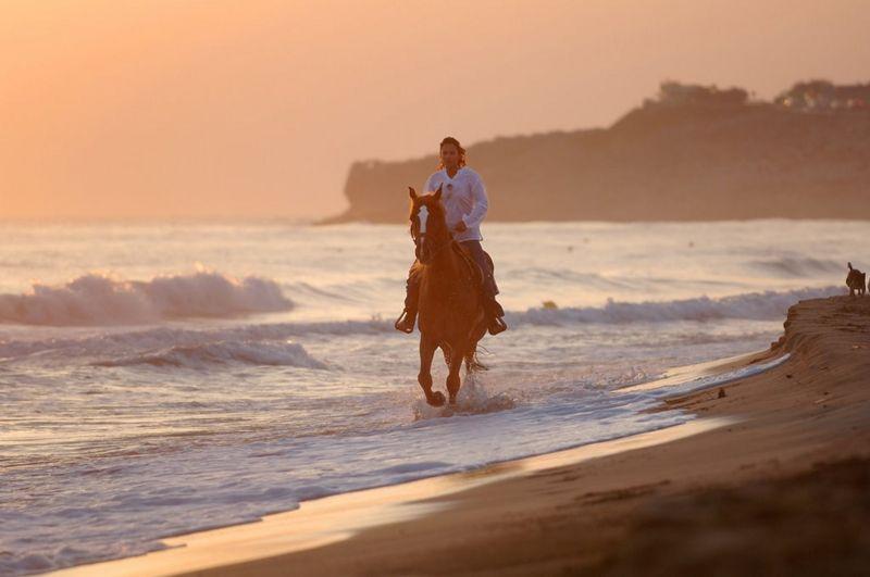 Horseback riding at the sandy beach of Karteros - 6km east of Heraklion, Crete