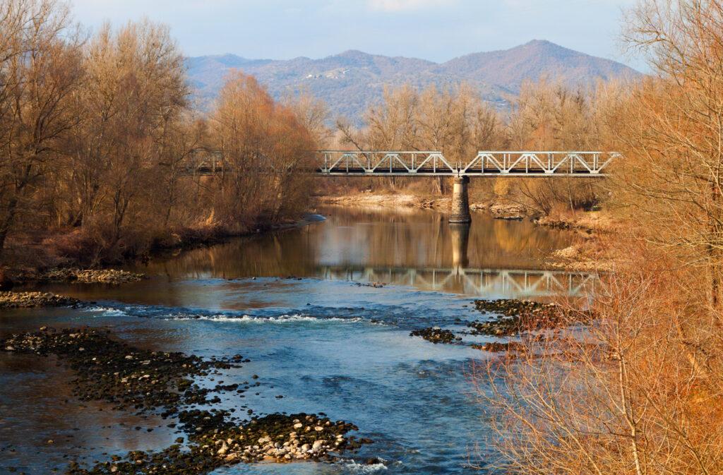 Nestos river near Drama city in Central Macedonia Greece