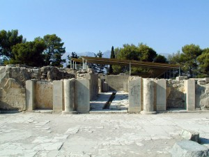 Entryway to the palace of Phaistos, Crete, Greece