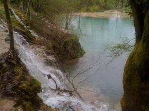 Skra lake and waterfalls, Paiko mountain in Pella, Greece