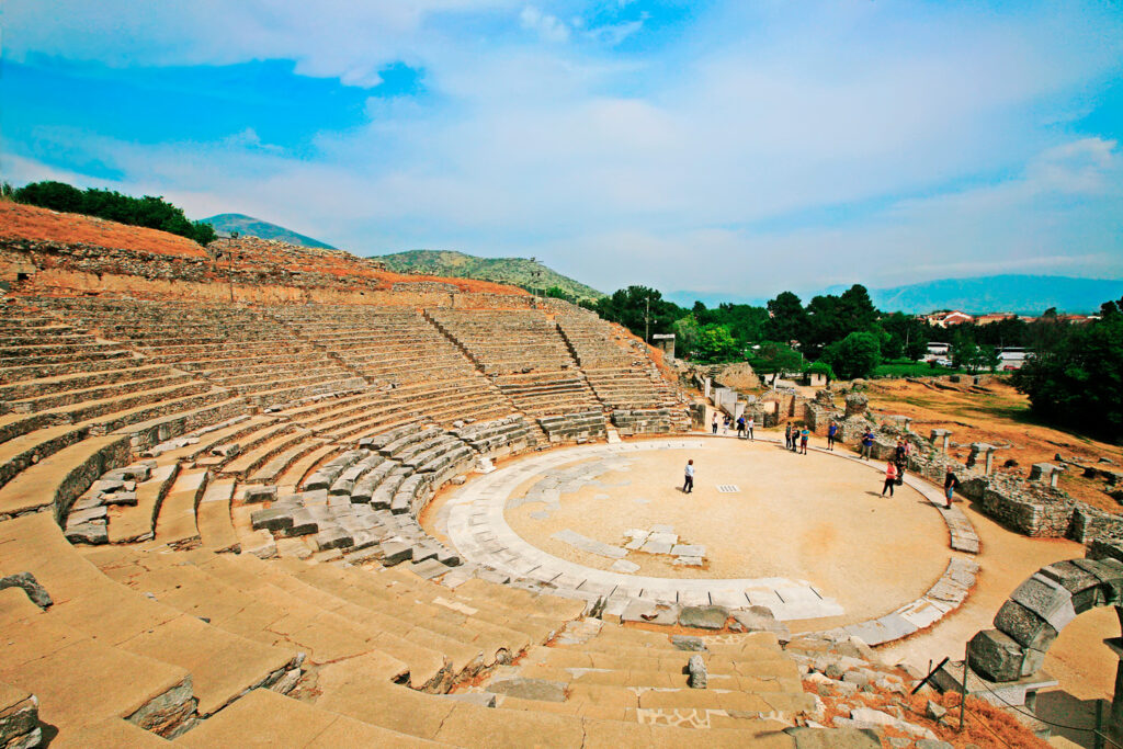 The ancient theatre of Philippi, Kavala, Eastern Macedonia and Thrace, Greece