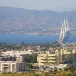 The University of Patras with the Rio-Antirio bridge in the background.