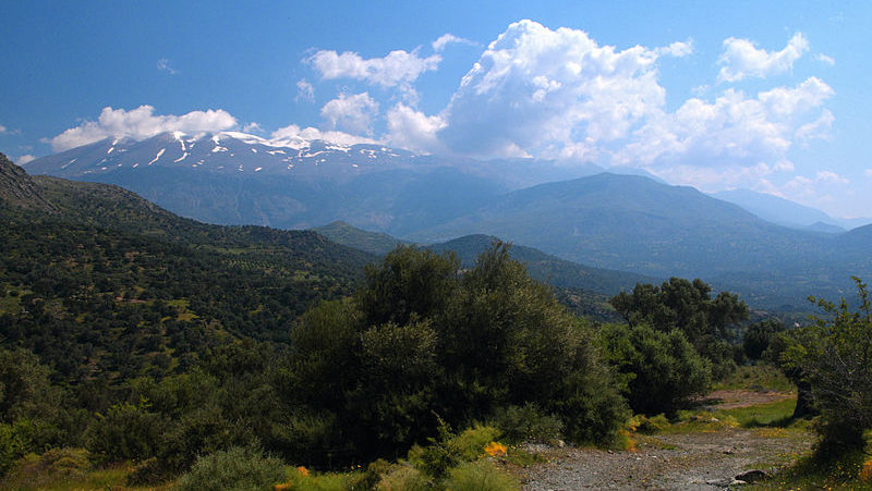 View of Psiloritis mountains from west, Crete, Greece