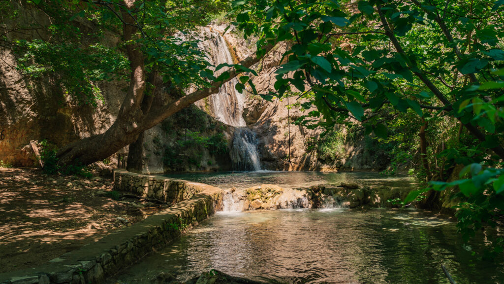 waterfall of Palia Kavala in Macedonia Greece