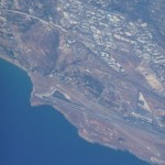 Aerial photograph of Nikos Kazantzakis International Airport and Nea Alikarnassos