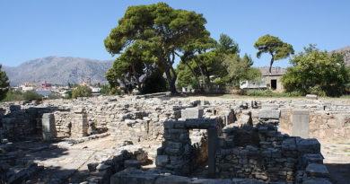 Ancient Tylissos in Crete, Greece
