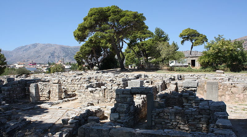 Ancient Tylissos in Crete, Greece