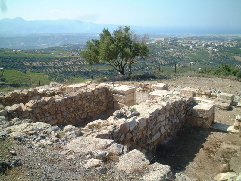 View of Anemospilia from the south, Crete