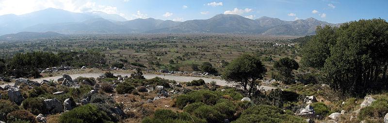 Panorama of Lasithi plateau, Crete