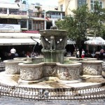 The Morozini Fountain at Lions Square in Heraklion, Crete
