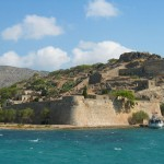 View of Spinalonga Island, Crete
