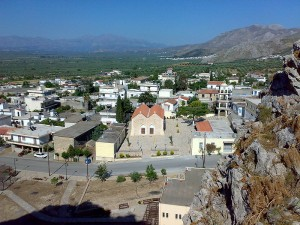 View of Charakas Village, Crete