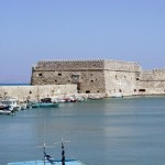 The Venetian fortress of Rocca al Mare in the port of Heraklion, Crete