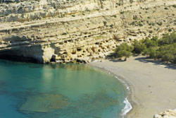 The artificial caves in Matala, Crete