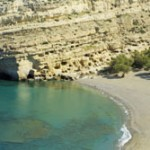 The Matala Caves near ancient Phaistos, Crete