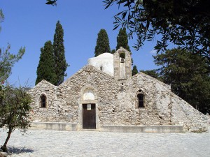Byzantine church of Panagia Kera in Kritsa, Crete