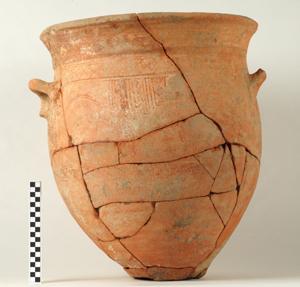 Protogeometric krater from the kitchen of the Archaic Shrine, Azoria, Crete