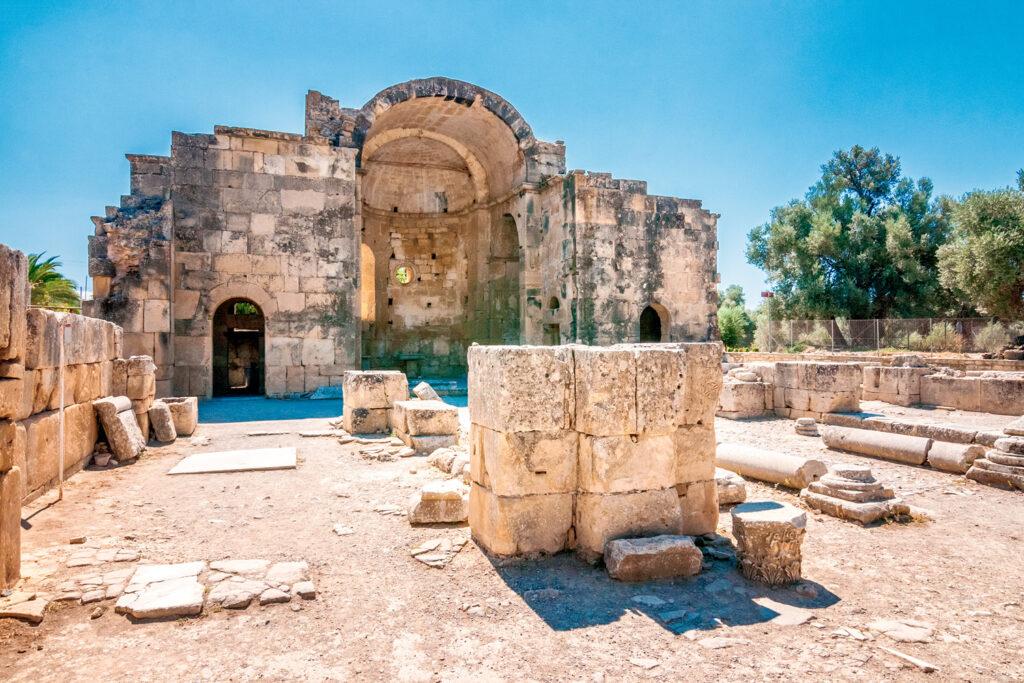 Saint Titus Basilica in Gortyn archaeological site in Crete, Greece