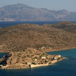 Spinalonga island - panoramic view from the mountains