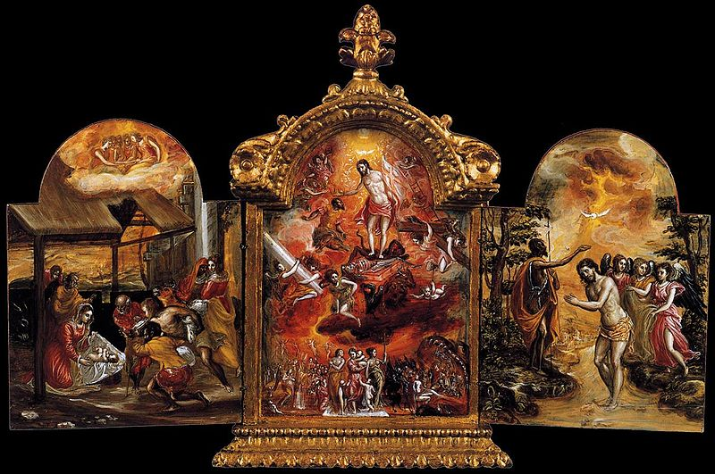 """Modena Triptych"" by El Greco exhibited at the Historical Museum of Crete"