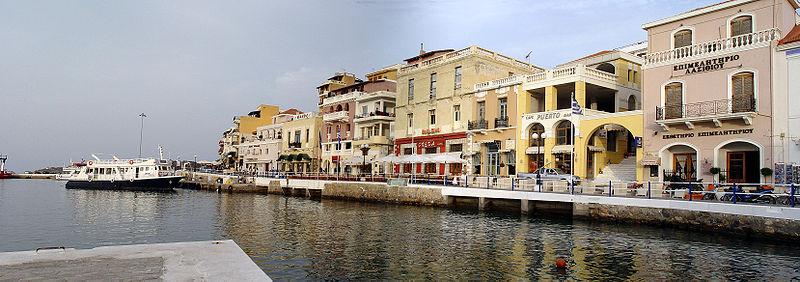The promenade of Agios Nikolaos, Crete