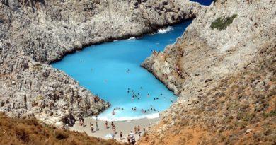 Akrotiri, Chania region, Crete, Seitan Limania Beach