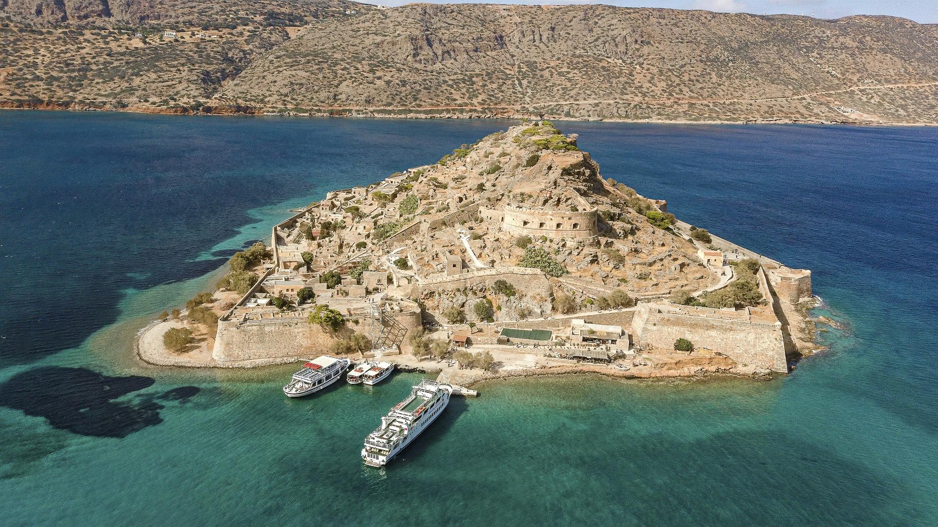 travel to Spinalonga Island, Crete, Greece