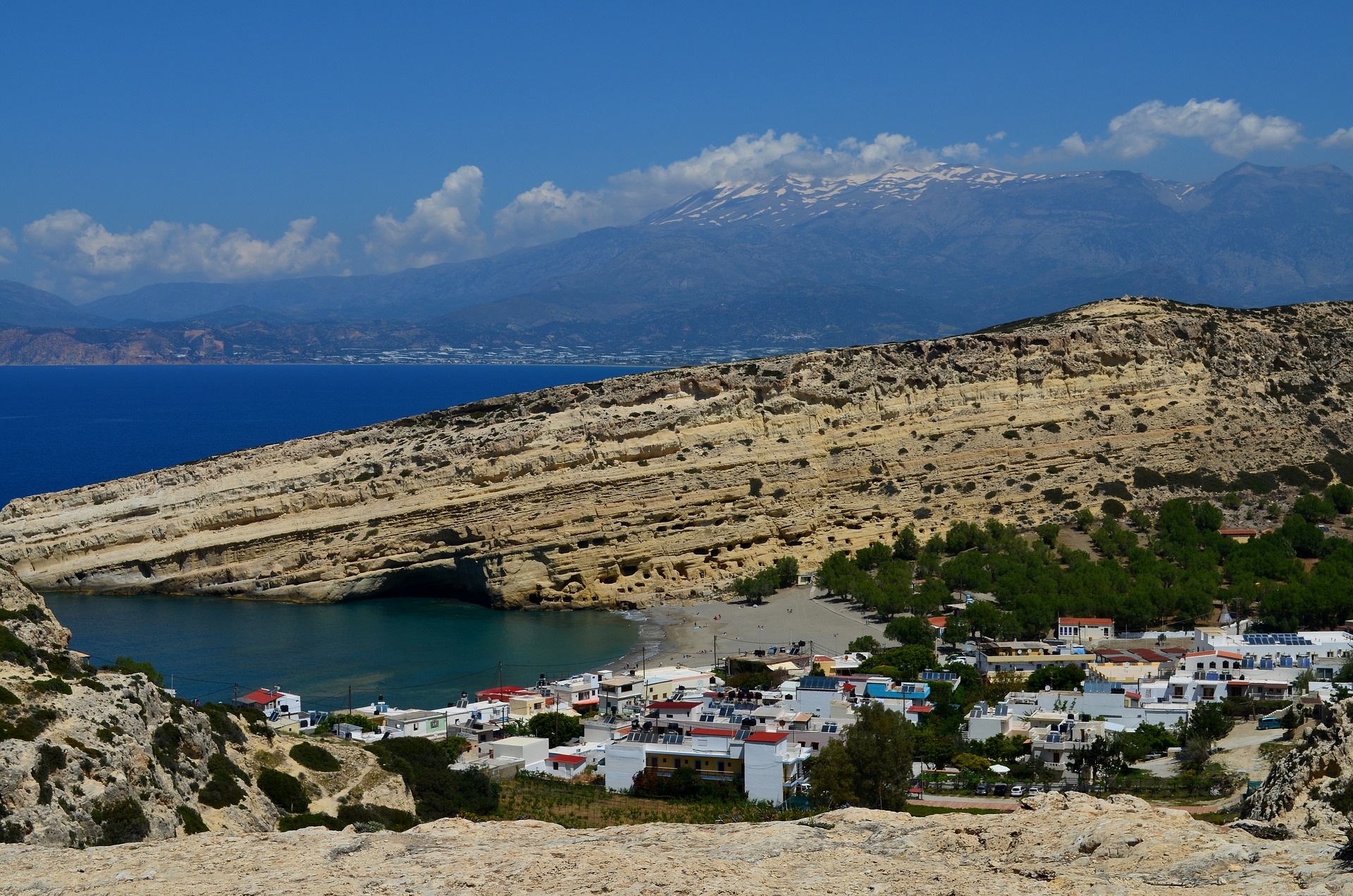 Travel to Matala Beach, Crete, Greece