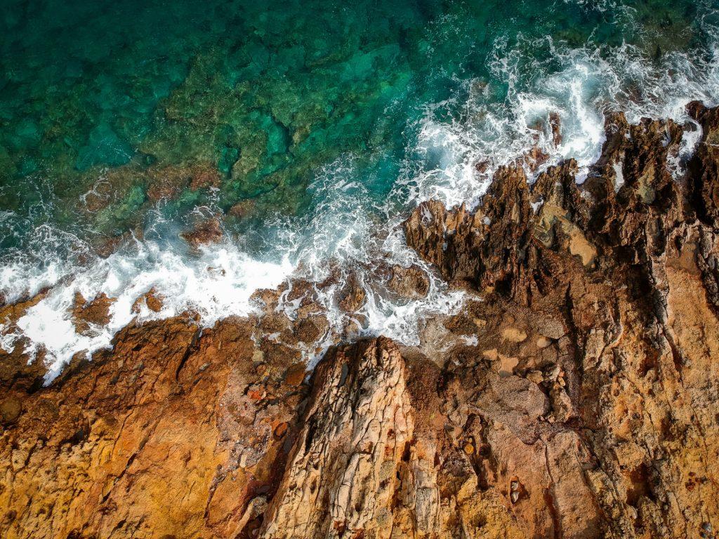 Wild coast near Agios Nikolaos, Lasithi, Crete