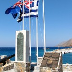 Monument commemorating the evacuation during WW2 of British and ANZAC forces from Hora Sfakion in May 1941.