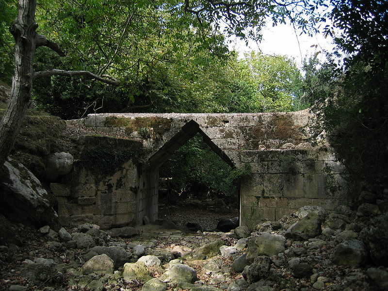 The Hellenistic Eleutherna bridge close to the ancient city, Crete, Greece