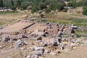Ruins of the Palace of Zakros, eastern Crete