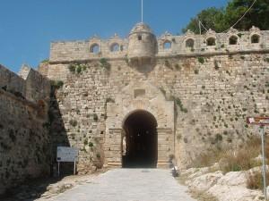 Rethymno Fortezza gate, Crete, Greece