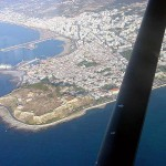 Rethymno venetian port and fort, seen from the air