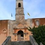 Agia Triada, entrance of monastery, Akrotiri, Crete