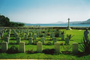 Allied cemetery from World War II at Souda Bay, Chania region, Crete