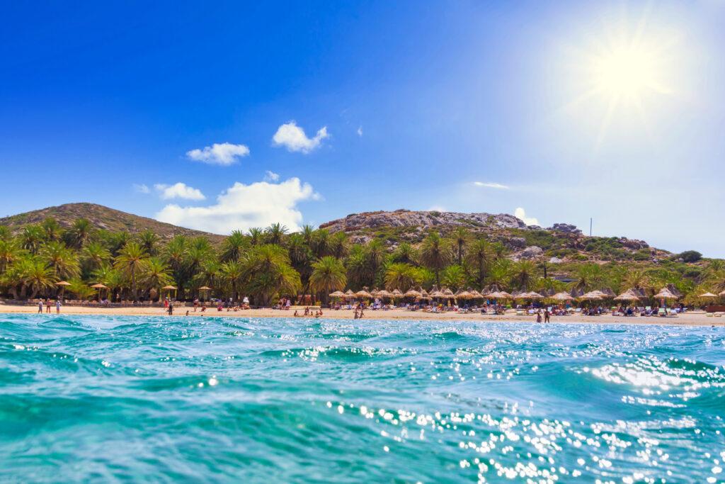 Beautiful Vai Palm Beach in Crete Greece