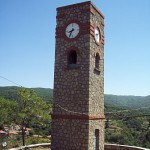 Clock tower (c.1900) in Karyes village, Arkadia, Greece