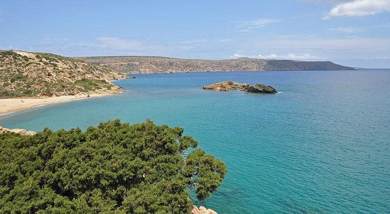 Coast near Vai Palm Beach in Crete, GreeceVai, eastern Crete