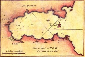 French nautical chart of Souda Bay in the 18th century