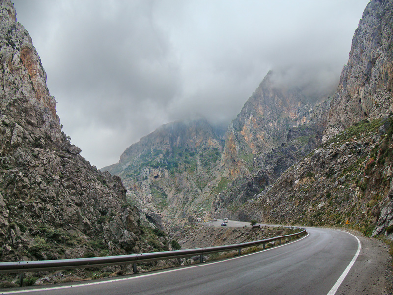Kourtaliotiko Gorge in Crete