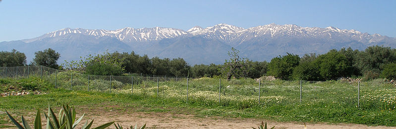 Lefka Ori - White Mountains view from the north, Chania region, Crete